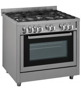 Cuisinière Whirlpool indépendante semi-professionnelle de 90 cm avec four géant XXL ACH 9511 G/IX