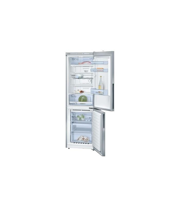 r frig rateur combin pose libre portes inox anti trace 186 x 60 cm bosch kgn36vl21 electro. Black Bedroom Furniture Sets. Home Design Ideas